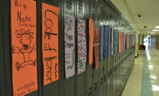 "Students decorate ""lit lockers"""